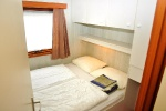 Slaapkamer met 1 x tweepersoonsbed
